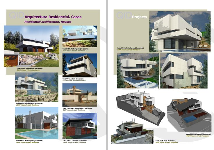 Arquitectura Residencial. Casas Residential Architecture. Houses