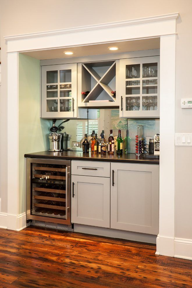 Atlanta Dry Bar Home With Gray Chandeliers Spaces Craftsman And