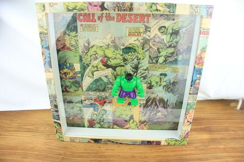 Hulk Lego. Need I say more? This retro collectable is everything you need. Match it in a comic themed bedroom with our Comic Superhero Chest Draws and you've got a winning theme going on. This epic action figure in framed on a vintage Hulk comic strip collage, with a matching frame – making it the most stylish and epic addition to your home!