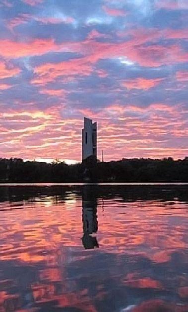 Sunrise in #Canberra, #Australia http://www.travelmagma.com/australia/things-to-do-in-canberra