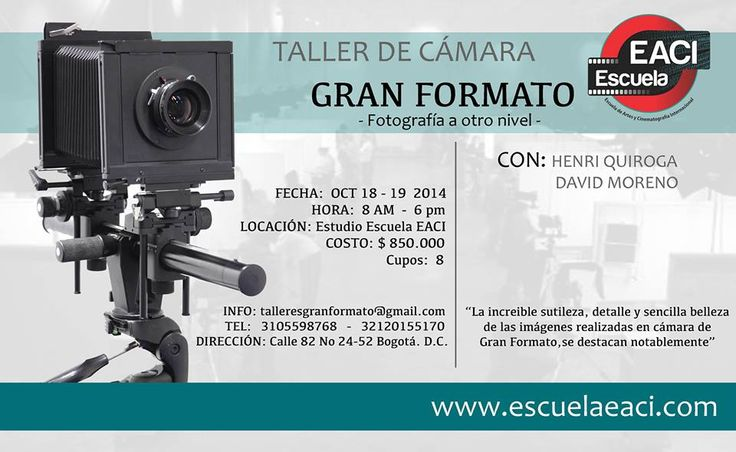 Taller de Fotografia gran formato Bogotá