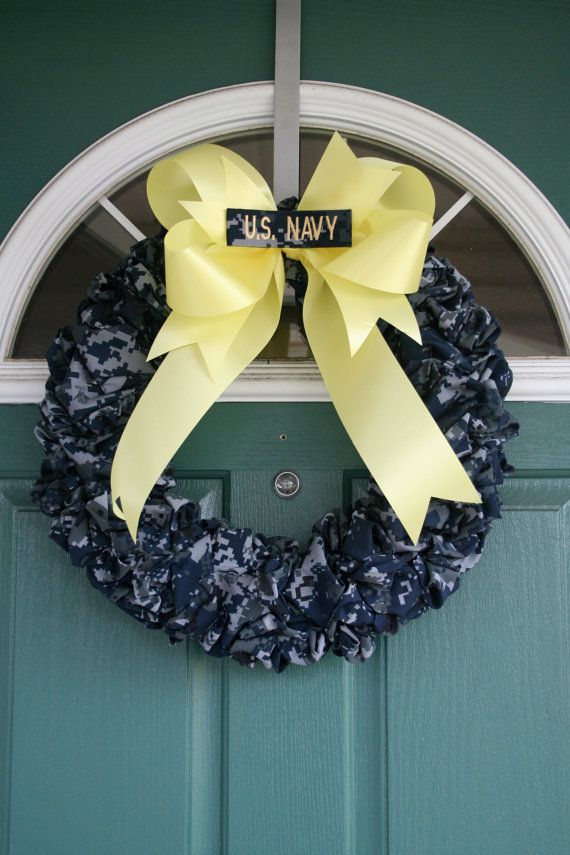 Navy Wreath by SandyKissesCloset on Etsy, $40.00