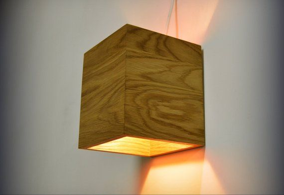 Wood Wall Sconce Lighting Oak Light Fixture Hanging