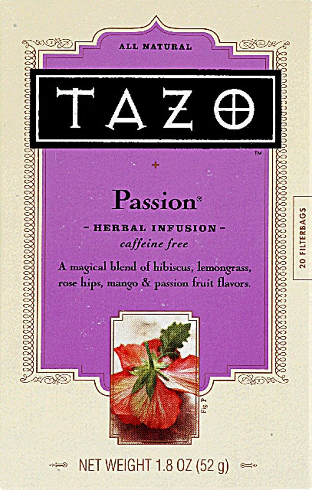 Tazo All Natural Herbal Infusion Tea Passion® Mango and Passion frruit <3