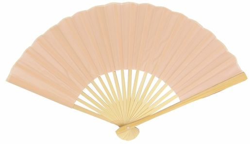 """9"""" Nude Silk Hand Fans for Weddings (10 PACK)"""