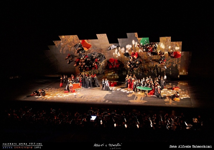 PRIMA // LA TRAVIATA // 2012 // Foto Alfredo Tabocchini. La Traviata degli specchi allo Sferisterio. #allieviemaestri #traviata #altrochelopera www.sferisterio.it