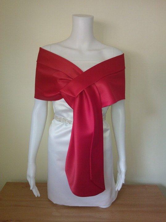 Red shawl  coverup bolero size  8 10 12 14 16 18 20 by mycoverup, £28.00