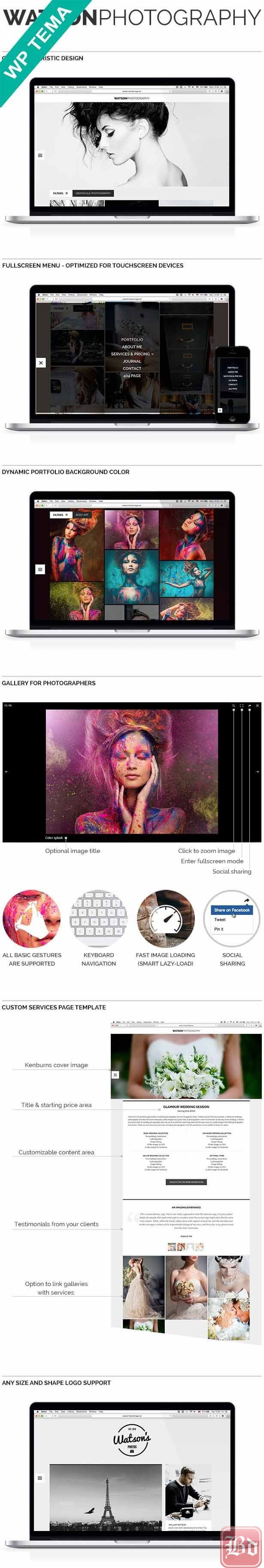 Watson – Photography WordPress Theme