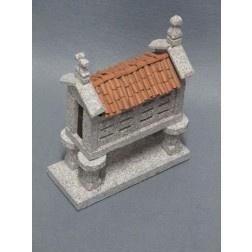 "Galician ""hórreo"" granite handmade whit traditional methods - Artcrafts of The Way of Saint James - Tax free $57.90"
