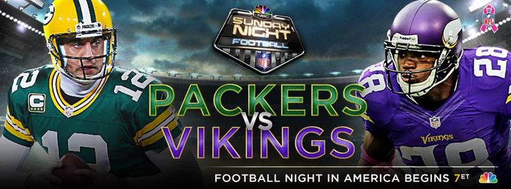 Sunday Night Football and it's an NFC North Showdown....Packers vs Vikings at the Metrodome.. Kickoff is around 7:30pm CT.... This is a rivalry where the individual team records, who's banged-up, who's not playing, who's coaching, who has Favre on their team, etc... don't seem to matter... This might be a rivalry even more intense than Packers/Bears.... Here's more preview from ESPN.... http://espn.go.com/nfl/nflpreview?gameId=331027016