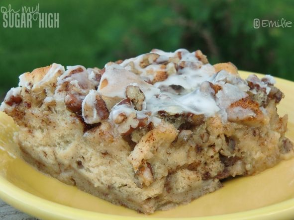 Cinnamon French Toast Bake ~ Uses canned cinnamon rolls. Great idea for Christmas morning!