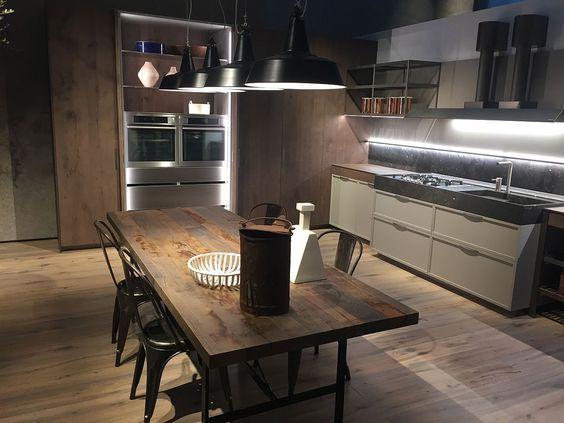 Kitchens Seen At Salone Del Mobile 2016 In Milan. Rustic Modern Kitchen And  Dining Space · Innenarchitektur KücheKüchen DesignHome ...