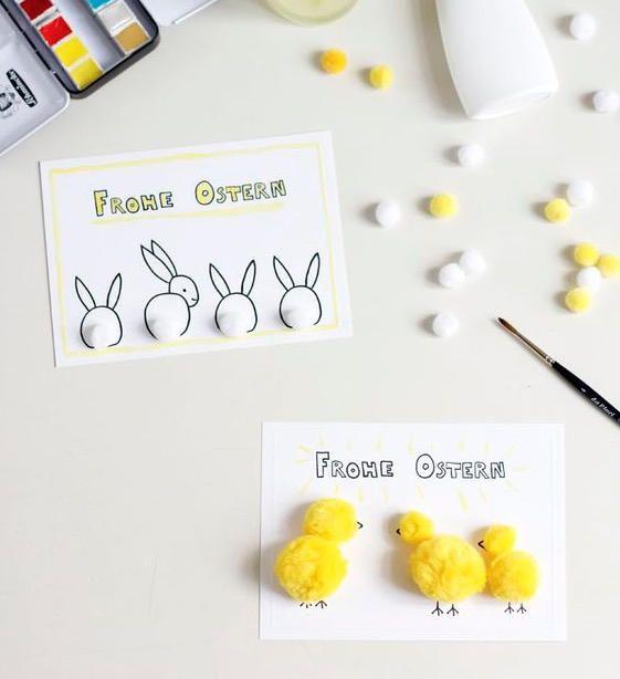 Ostern steht vor der Tür! Mit dieser schönen Osterkarte zum Ausdrucken machen wir unseren Liebsten eine Freude. Einfach runterladen und ausdrucken!