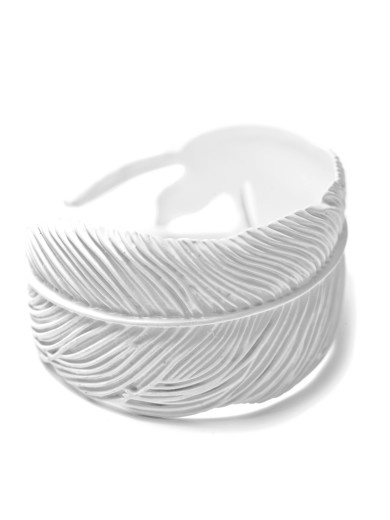 Matte White Feather Cuff by Wildfox available at Chic Peek