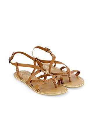 Xanthe Plaited Sandal