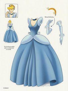 Miss Missy Paper Dolls: Disney Princess Cinderella  Paper dolls