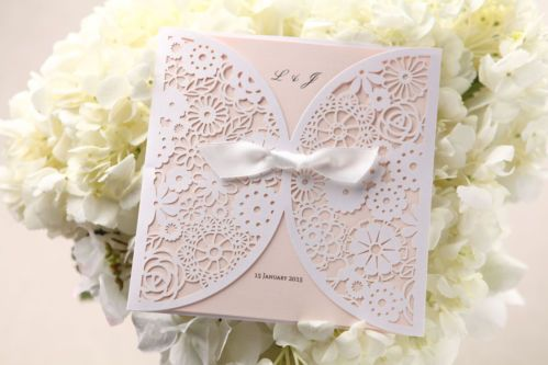 Wedding Invitation - Pink Light Romance / BH2065 / Sample Only