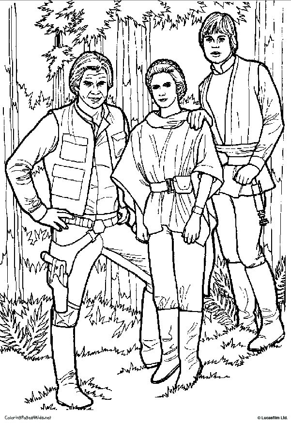 star wars princess leia coloring pages Princess Leia