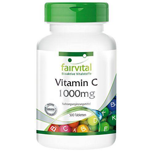 Vitamin C 1000mg mit Hagebutten gepfuffert magenfreundlich Großpackung 500 Tabletten Fairvital http://www.amazon.de/dp/B005MIAZ50/ref=cm_sw_r_pi_dp_X3E4vb1HR96KW