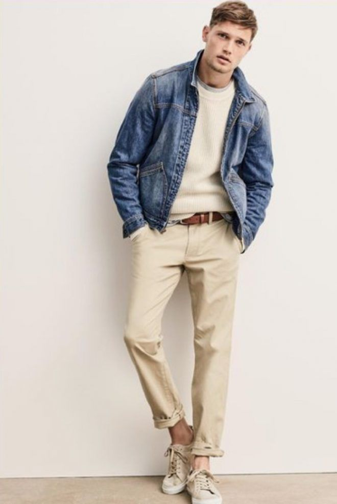 look masculino casual jaqueta jeans