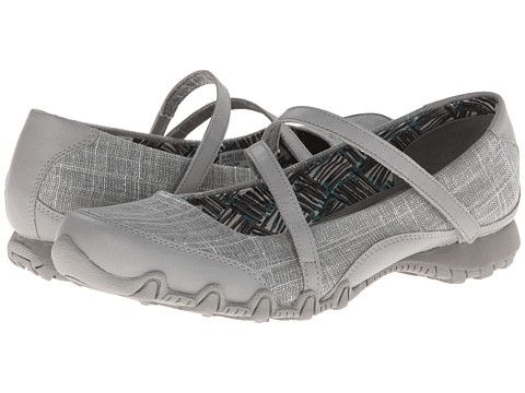 SKECHERS Bikers - Ethereal Grey/Silver - Zappos.com Free Shipping BOTH Ways