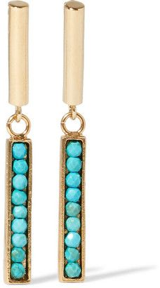 Shop Now - >  https://api.shopstyle.com/action/apiVisitRetailer?id=614755065&pid=uid6996-25233114-59 Isabel Marant - Gold-tone Howlite Earrings - one size  ...