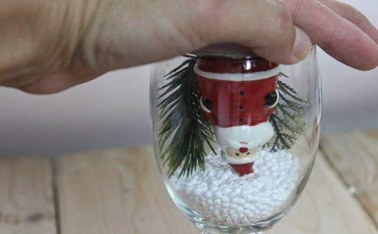 Haz una bola de nieve con copas de vidrio ~ lodijoella