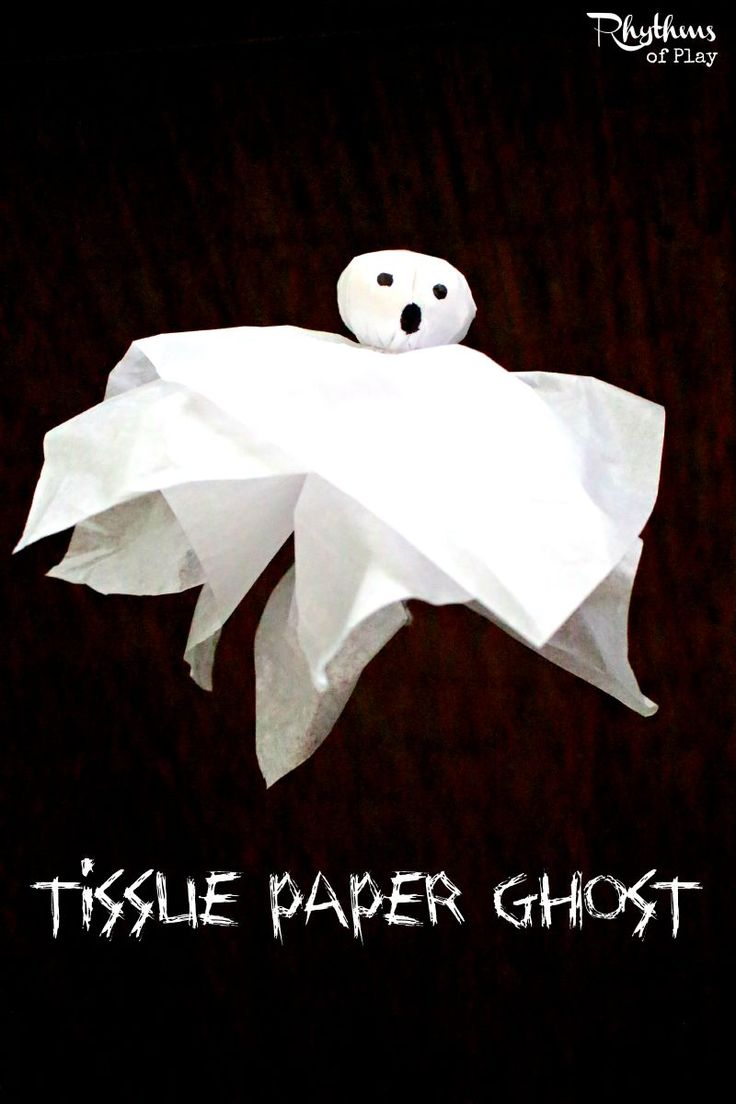 This tissue paper ghost craft is a classic for Halloween fun. They can be made in many sizes and used in many ways. Make some for some ghostly fun today!