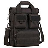 DYJ Tactical Briefcase Purse Molle Bag Engineers Bag Handbag Military Sling Shoulder Bag Heavy Duty with Shoulder Strap Multiple Pouches & Compartments