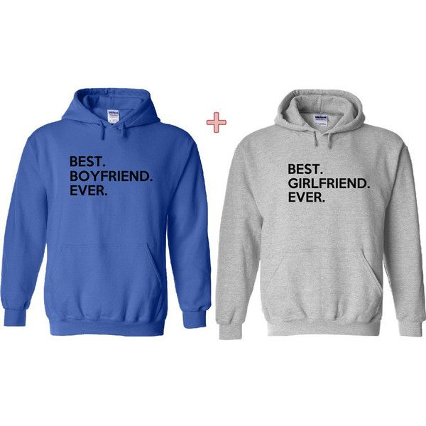 Best Boyfriend Ever and Best Girlfriend Ever Matching Hoodies Couple... ($48) ❤ liked on Polyvore featuring tops, hoodies, black, women's clothing, black hoodie pullover, sweatshirts hoodies, black hoodies, hooded sweatshirt and black pullover hoodies
