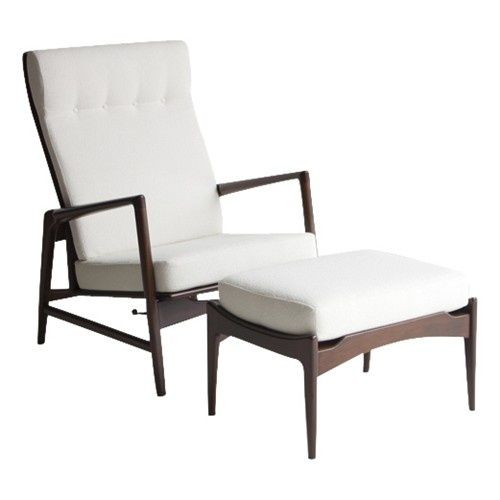 Ib Kofod-Larsen Lounge Chair and Ottoman for Selig | Mid-Century ...