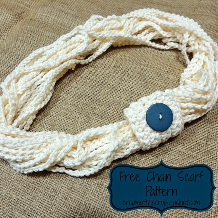 This is the perfect pattern for a beginner! It allows you to practice a foundation chain, and single crochet. The best part is, once you are done, you have a fashionable scarf!
