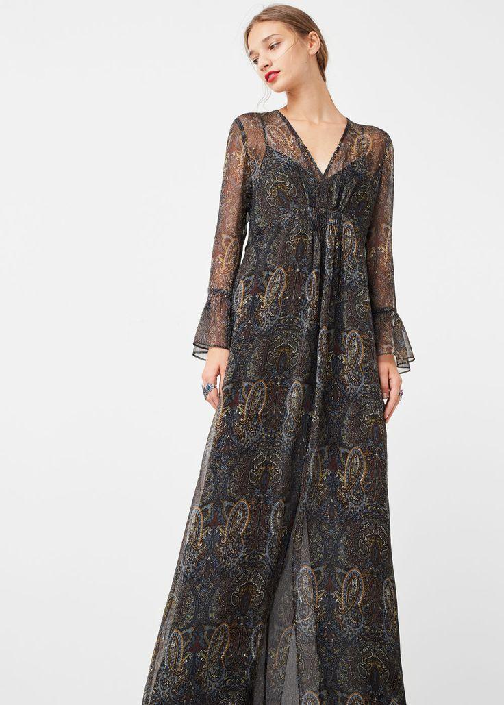 Kleid mit paisley-muster   MANGO
