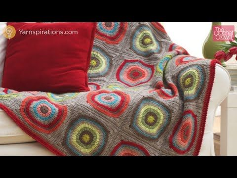 Crochet Circle in Squares Afghan - YouTube