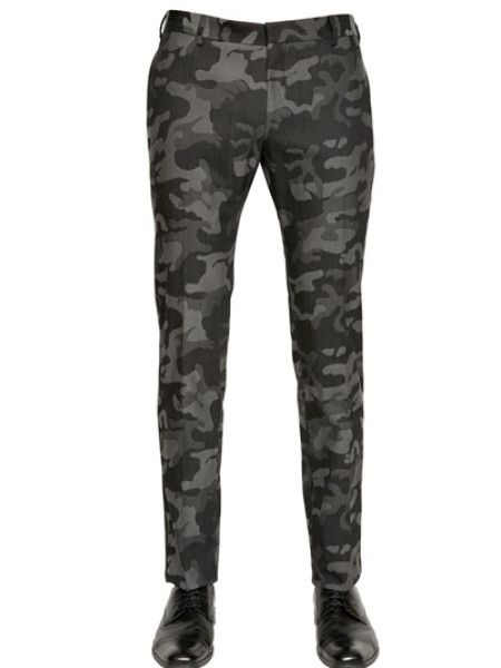 Tonello 185cm Cotton Camouflage Tuxedo Trousers in Gray for Men (GREY CAMOUFLAGE)
