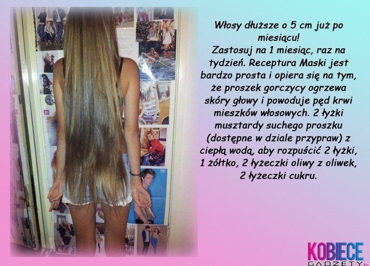 MASKA na POROST włosów!!! Super EFEKT - 5 cm na MIESIĄC!!!