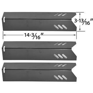 Porcelain Steel Heat Plate Replacement For Uniflame GBC1030W, Uniflame GBC1030WRS, Uniflame GBC1030WRS-C, Uniflame GBC1134W, Uniflame GBC1134WRS, Uniflame GBC1134WBL Gas Grill Model