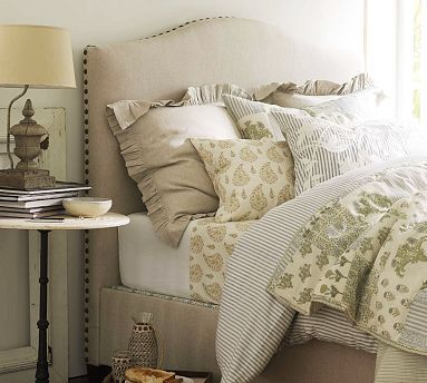 How to make a bed like Pottery Barn does. Confession: as trivial as bed-making is, I am a true sucker for a well-made bed.