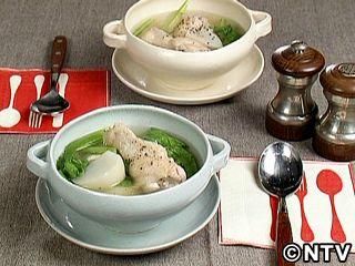 鶏肉とかぶのあっさりスープ