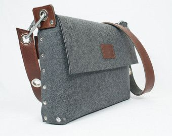 Mens Messenger Bag Mens satchel bag / Messenger bag for by Rambag