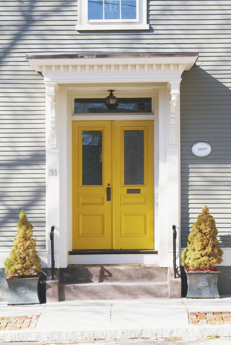 174 best yellow doors and shutters images on pinterest for Front door yellow house