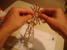 Toothpick Windmill , How to make a toothpick windmill
