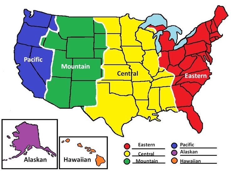 Best These United States Of America Images On Pinterest - Different time zones in usa
