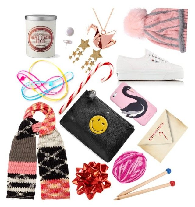 """Gifts!"" by prettyroses ❤ liked on Polyvore featuring Superga, Williams-Sonoma, Missoni, Kate Spade, Anya Hindmarch, Alex Toys, Origami Jewellery, ORA Pearls, contestentry and polyPresents"