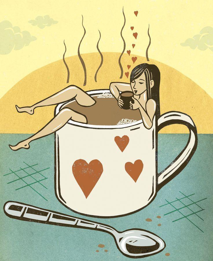 Пожеланиями, прикольные картинки чай кофе меня