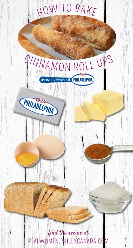 How to make Cinnamon Roll Ups with a creamy Philly Cream Cheese center. #recipe