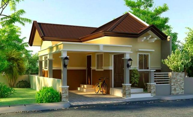 Small and Simple House With Small Living Room, Small Kitchen and A Small Bedroom