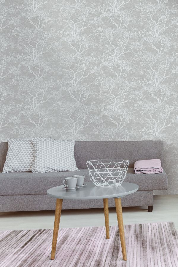 Whispering Trees By Albany Grey 65401 In 2019 Grey Wallpapers