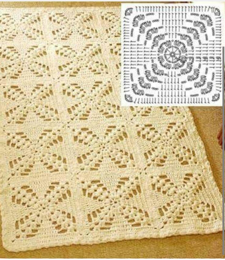Famoso Crochet Patrones De Las Fronteras Afganas Imagen - Manta de ...