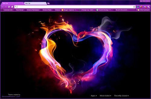 Colorful Love Smoke Google Chrome Theme